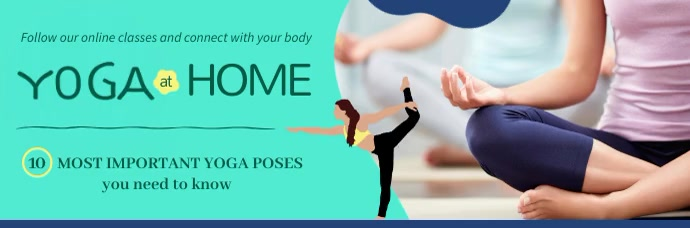 Yoga Blog Animated Email Header template
