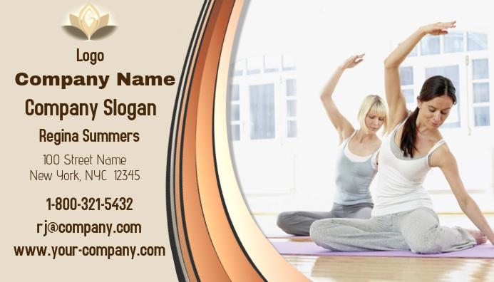 Yoga Visitenkarte Vorlage Postermywall
