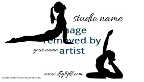 yoga bussiness card studio teacher