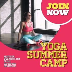 Yoga Camp Square (1:1) template