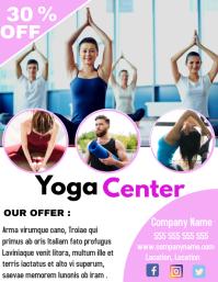 Yoga center advertisement flyer 30% off offer