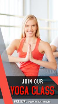 Yoga class ad 1080x1920 pixel