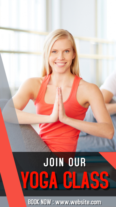 Yoga class ad 1080x1920 pixel Instagram Story template