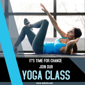 Yoga class advertisement for social media