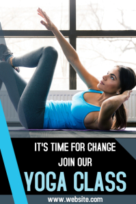 Yoga class advertisement post