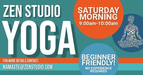 Yoga Class Announement Facebook Shared Image template