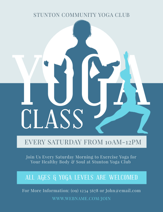 Yoga Class Flyer Template Postermywall
