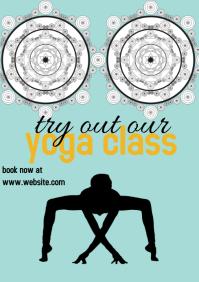 yoga class flyer templates