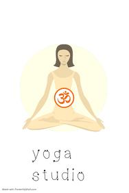 yoga class poster flyer name card yoga teacher