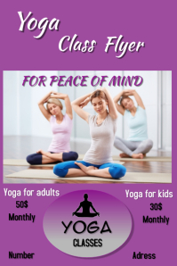 Yoga class Affiche template