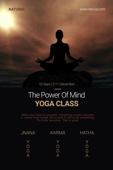 Yoga Class Poster Template Cartaz
