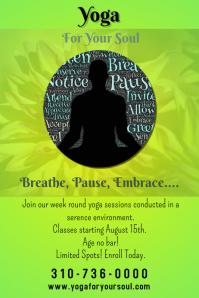 Yoga Class Poster Flyer Template