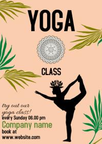 yoga class templates