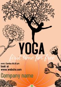 yoga class templates A4