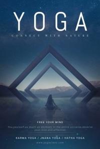 Yoga Class Video Poster Template Cartaz