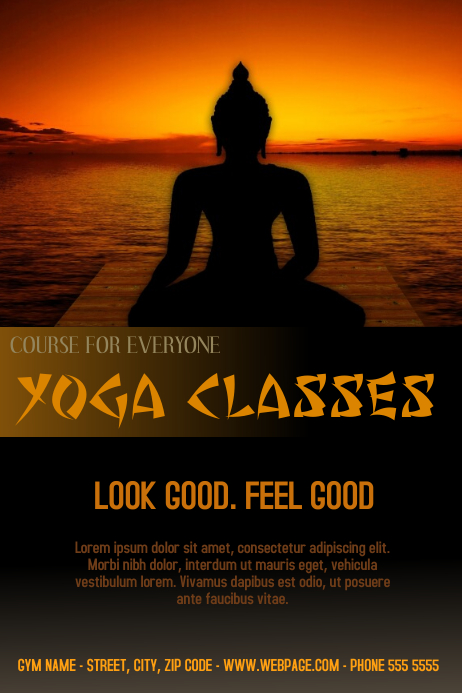 yoga classes course flyer template