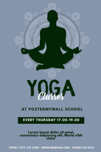 Yoga Classes Event Flyer Template Poster