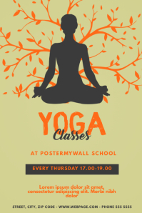 Yoga Classes Event Flyer Template