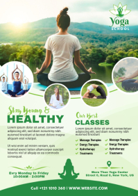 Yoga classes Flyer A4 template