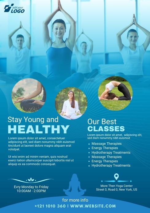 Yoga classes Flyer A4 template