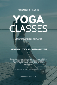 Yoga classes Flyer design template