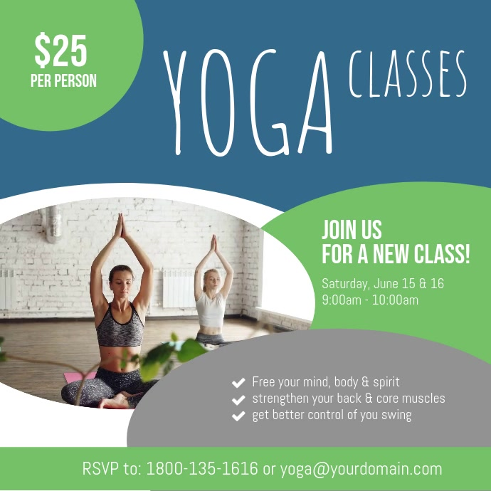Yoga Classes Instagram Video Promotion template