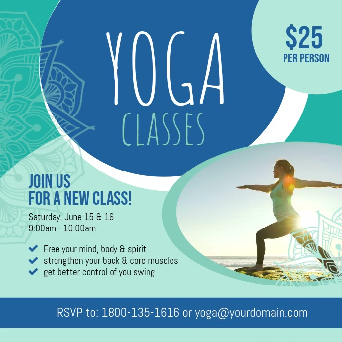 Yoga Classes Instagram Video Template