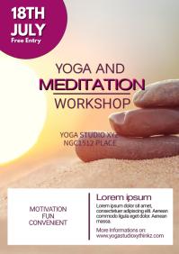 Yoga Classes Meditation Spirituality Soul Ad A4 template