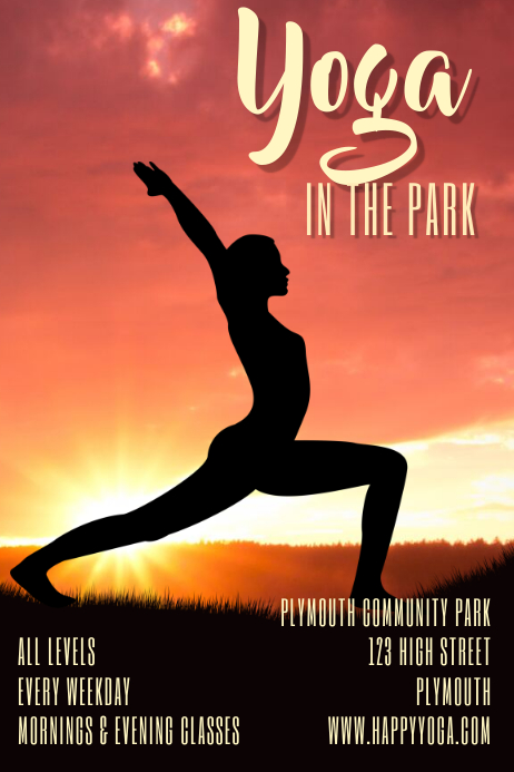 Yoga Classes Poster Flyer Template Cartaz