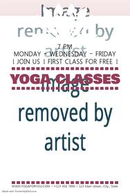Customizable design templates for yoga class postermywall yoga classes stopboris Gallery