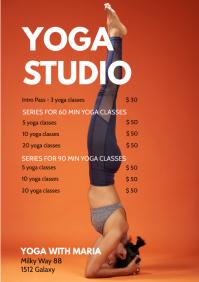 yoga Classes Price list programm Pilates ad