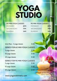 Yoga Classes Price Lists Programm Pilates ad