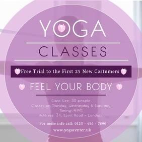 Yoga Classes Square Video template