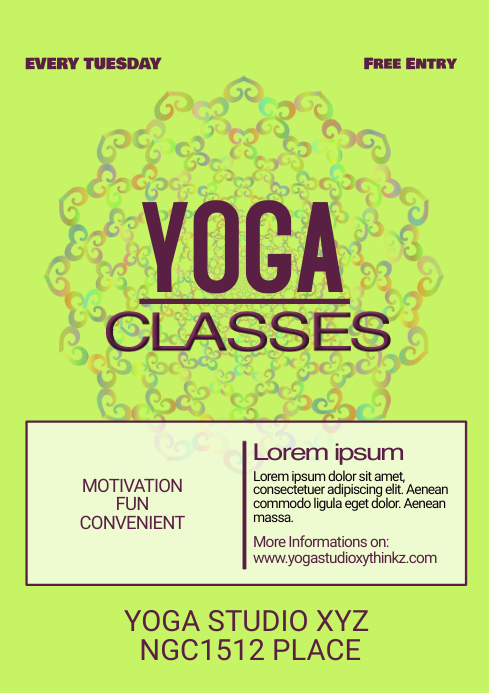 Yoga Classes Stido Meditation Spirituality Ad