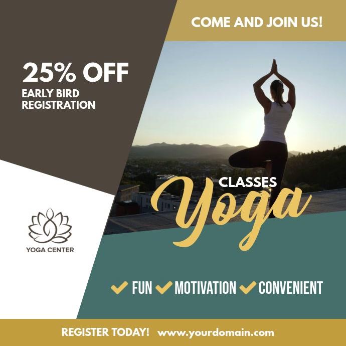 Yoga Classes Video Flyer Template  d0a219a13a15
