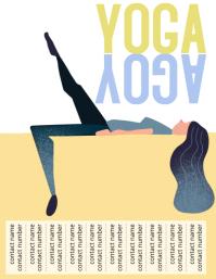 Yoga contact flyer