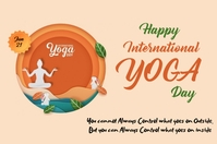 Yoga Day Label template
