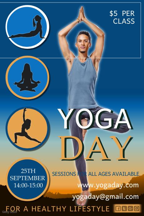 Yoga Day Flyer 海报 template
