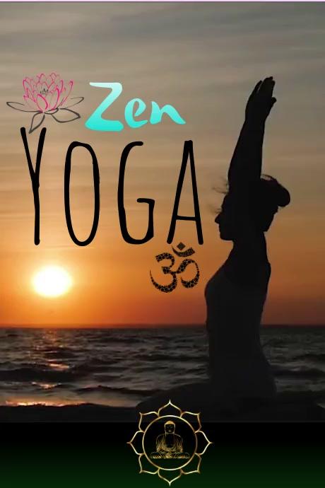Yoga Cartaz template