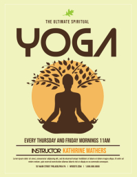 Yoga Flyer (US Letter) template
