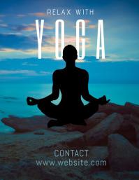 yoga Flyer (US Letter) template