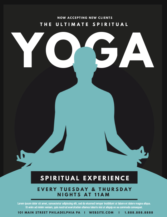 Yoga ใบปลิว (US Letter) template
