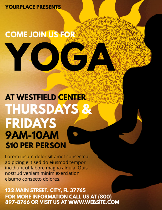 Yoga Flyer (Letter pang-US) template