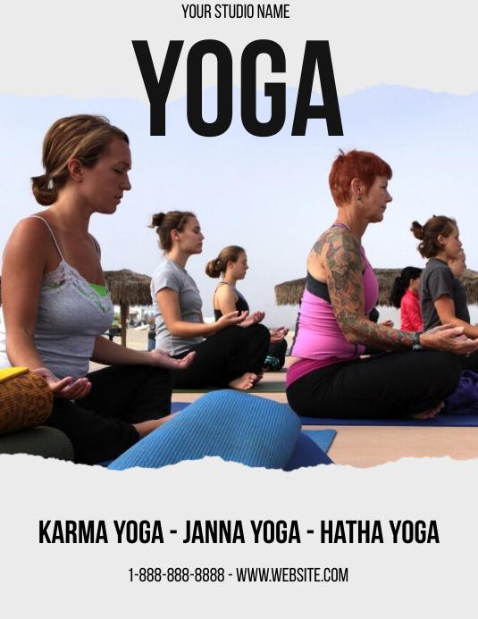 Plantilla de Esencia de Yoga | PosterMyWall