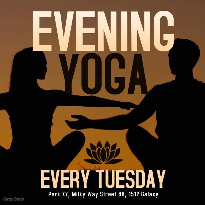 YOGA Event Evening Yoga Spiritual Meditation Soul Body Event
