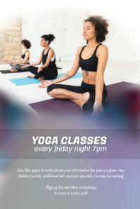 Yoga Fitness Class Workshop Flyer Poster Template