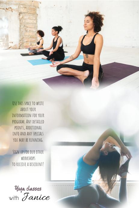 Yoga Fitness Class Workshop Flyer Template