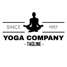 Yoga fitness course / company logo