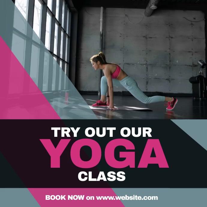 Yoga Fitness Persegi (1:1) template