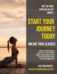 Yoga fitness flyer
